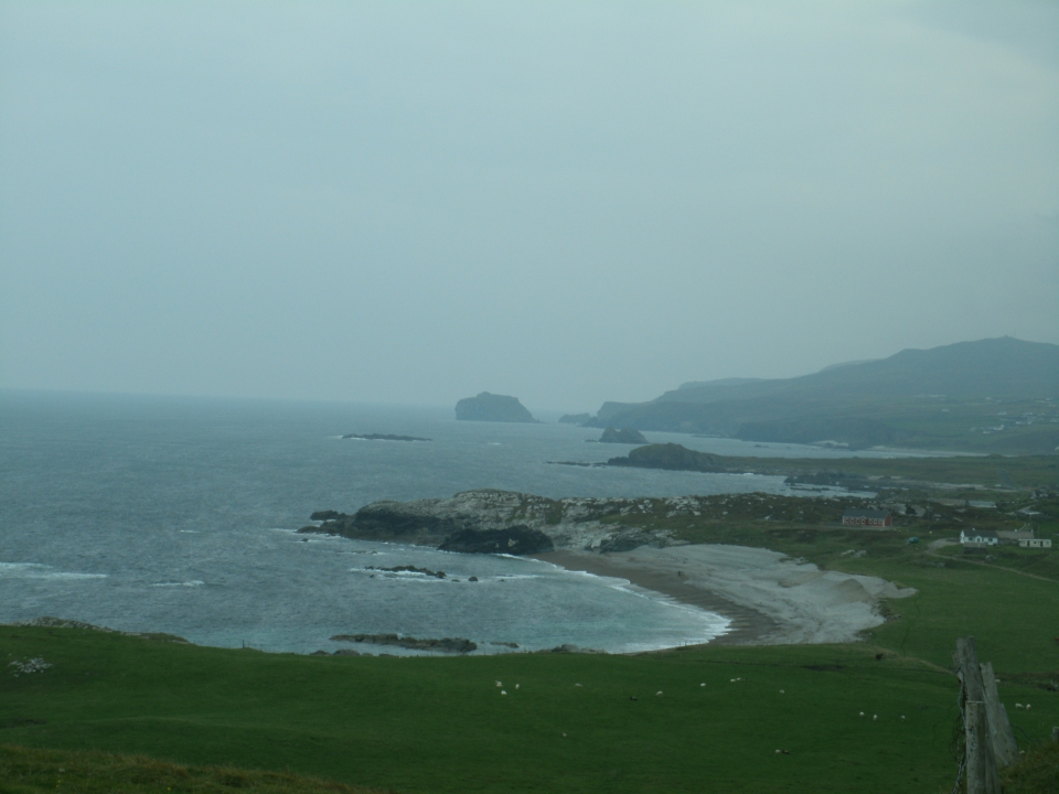 Malin head view along the eastern coast