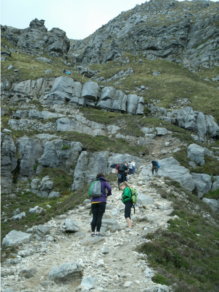 rugged path to the summit of Muckish mtn