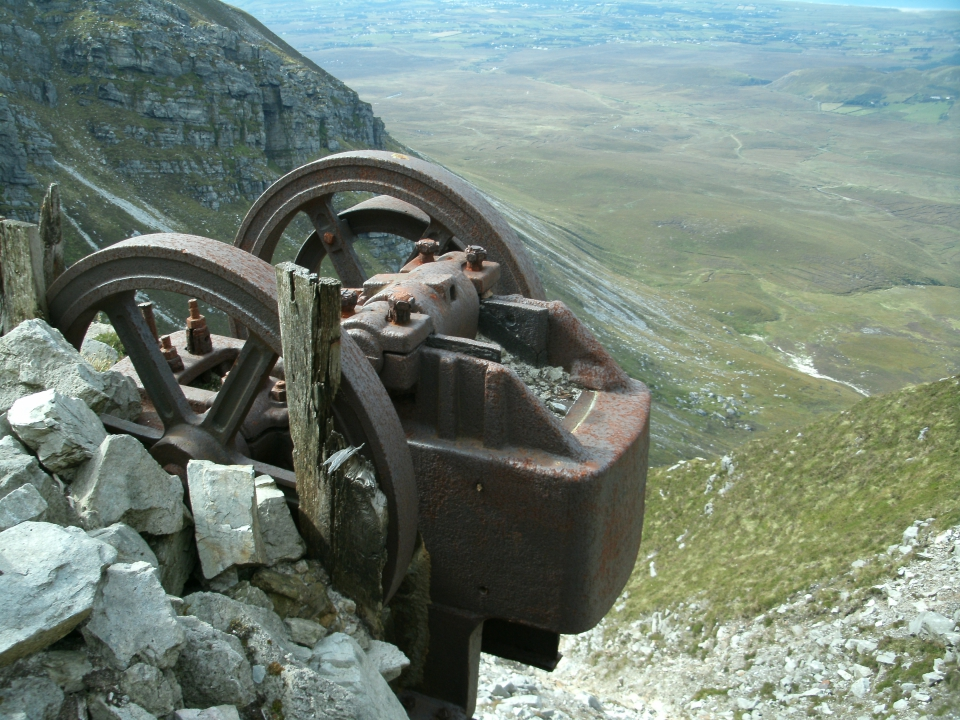 Sand crusher on Muckish Mountain