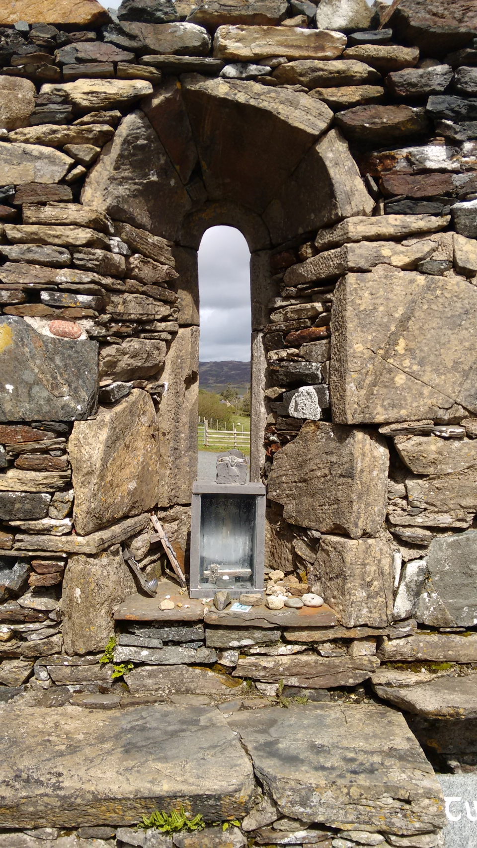 Altar window of St. Colmcille's Abbey at Gartan.